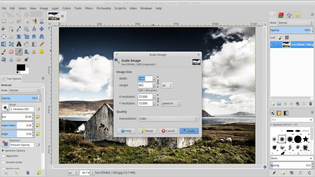 Cómo cambiar el tamaño de una imagen con GIMP