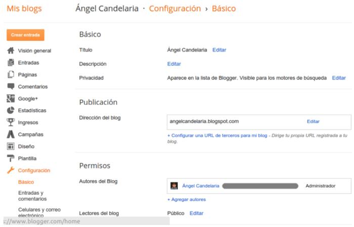 Blogger Configuracion basica