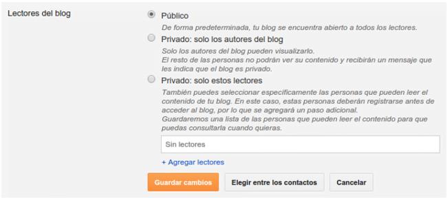 Blogger lectores visibilidad blog